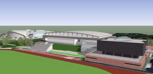Indoor Athletic Facility rendering (UGA Sports Communications)