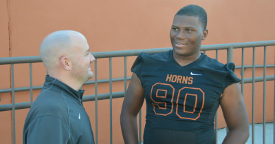 Derrick Brown and Lanier coach Korey Mobbs by Michael Carvell DSC_0045