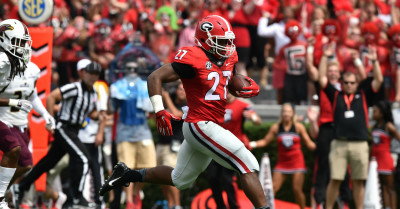 Nick Chubb by Brant Sanderlin AJC UGA vs. Louisiana-Monroe 2015 DRC_8472