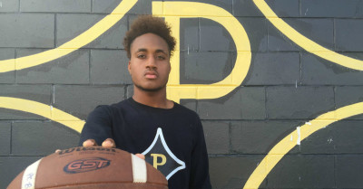 McGhee is a quarterback at Peach County, but will be a defensive back at UGA. (Chris Kirschner/ AJC)