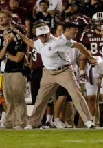 You know you're doing well if you can get Steve Spurrier to throw his headset or visor. AP PHOTO