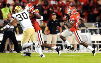 Senior receiver Malcolm Mitchell will play in Vanderbilt Stadium for the first time on Saturday. ESPN PHOTO