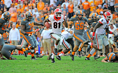 Reggie Davis' punt return for a touchdown was one of the few bright spots for special teams. (John Kelley / UGA)