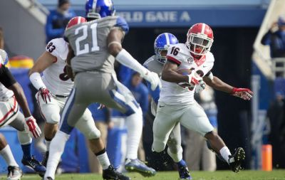 This 90-yard kickoff return against Kentucky was one of three scores off returns that Isaiah McKenzie had last season. AP / DAVID STEPHENSON