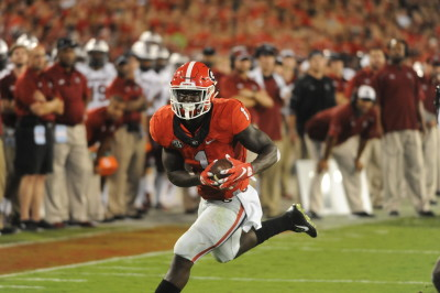 Running back Sony Michel has become Georgia's most dangerous receiver. (Sean Taylor / UGA)