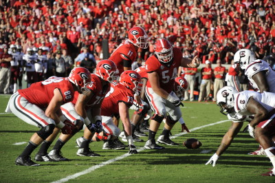 Georgia's offensive line played a terrific game. (John Kelley / UGA)
