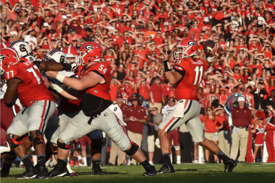 An example of the time Greyson Lambert had to throw against South Carolina. (UGA/Perry McIntyre Jr.)