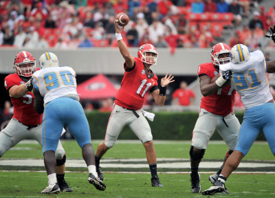 Greyson Lambert had another sharp performance. (Ted Mayer / UGA)