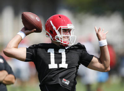 Greyson Lambert needs to let the game come to him Saturday and not try to do too much, D.J. Shockley says. (AP PHOTO)