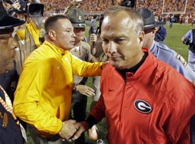 Mark Richt looks like a man who knows what he has in the 2015 Dawgs. (Associated Press)