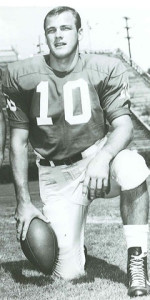 Quarterback Larry Rakestraw set an NCAA passing record against Miami. (University of Georgia)