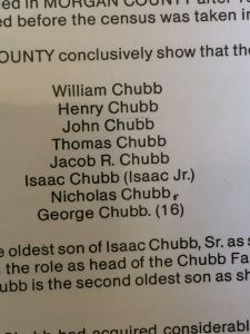 "This is one of the official documents showing the eight original Chubb brothers who founded Chubbtown around 1860. They're known in the family as ""The King Chubbs."" (AJC / CHIP TOWERS)"
