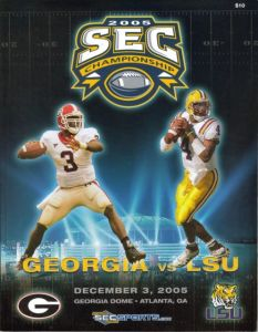 A program from the 2005 SEC Championship Game won by Georgia.