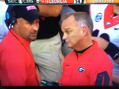 Jeremy Pruitt had some things to say to Mark Richt ... what, we don't know.