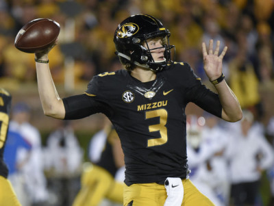 Freshman Drew Lock, now at the controls of Missouri's offense, struggled in the 21-3 loss to Florida. GETTY IMAGES / ED ZURIGA