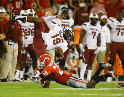 Quincy Mauger Lorenzo Nunez by Curtis Compton AJC UGA vs. South Carolina 2015 DRC_5332