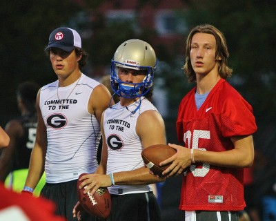 Jacob Eason, Bailey Hockman, Trevor Lawrence by Rob Saye Dawg Night 2015 IMG_4354 (2)