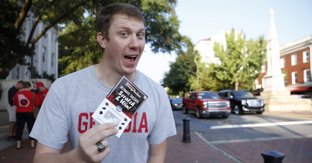 Spending a Saturday in Athens is its own treat but Anthony Faulkeubeey has more to celebrate after winning $150 in a Kroger scratch-off. (Joshua L. Jones/ Special)