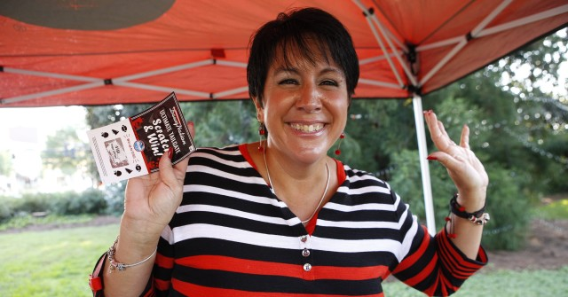 Cindy Montgomery is excited that football is back. (Joshua L. Jones/ Special)