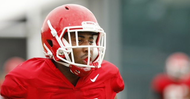 UGA wide receiver Michael Chigbu (82) moves on to the next drill during Tuesday's practice. (Joshua L. Jones/Special)