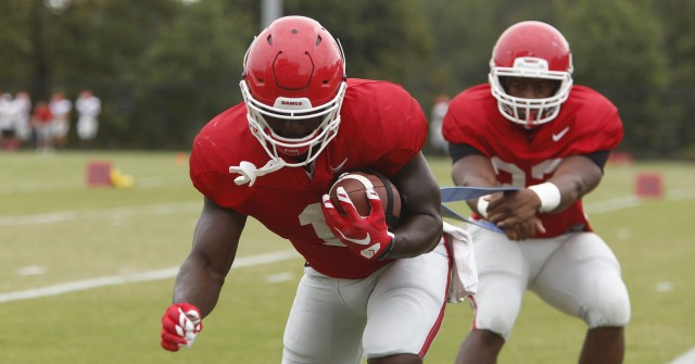 Sony Michel Nick Chubb Sept 22 2015 by Joshua L Jones DCS 0083