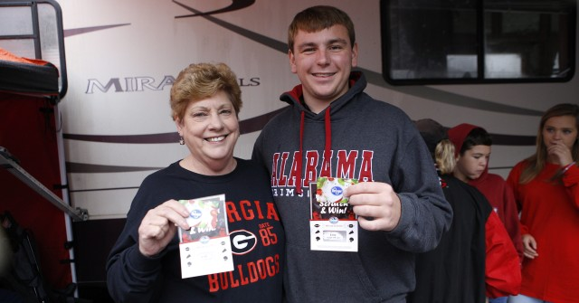 Mary Branson, right, from Snellville, Ga, and Will Branson from Flowery Branch. (Joshua L. Jones/Special)