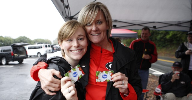 Karen Schaack, right, and Madeline Crisler, from Savannah, Ga. (Joshua L. Jones/Special)
