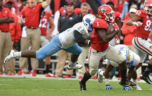 Sony-Michel-by-Brant-Sanderlin-AJC-UGA-vs.-Southern-2015-DRC_1773