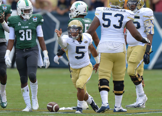 Defeating Notre Dame would be a significant step forward for quarterback Justin Thomas and Georgia Tech after easy wins over Alcorn State and Tulane. (Hyosub Shib, hshin@ajc.com)
