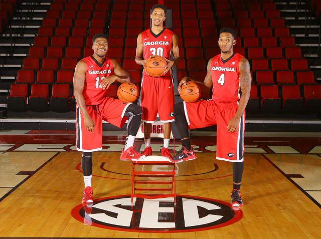 Kenny-Gaines-Charles-Mann-J.J.-Frazier-by-Curtis-Compton-AJC-UGA-basketball-2015-DRC_2446