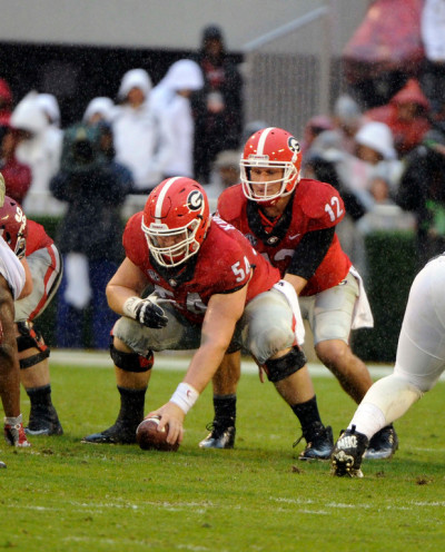 Brice Ramsey had a horrific day when his turn came at QB. (John Kelley / UGA)