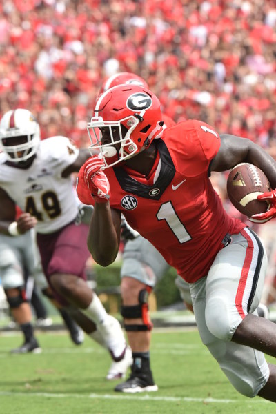 Sony Michel looked good in relief of Nick Chubb. (Perry McIntyre Jr. / UGA)