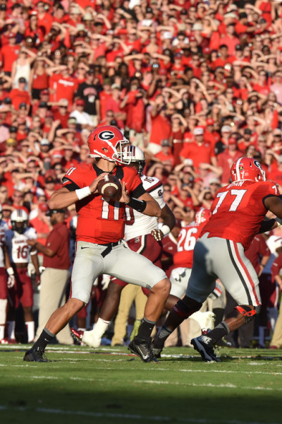 Greyson Lambert more than answered his critics with his performance. (Perry McIntyre / UGA)
