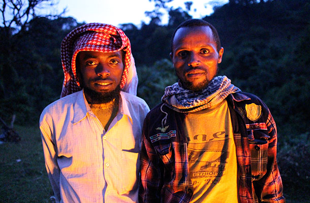 Two coffee producers from Jimma