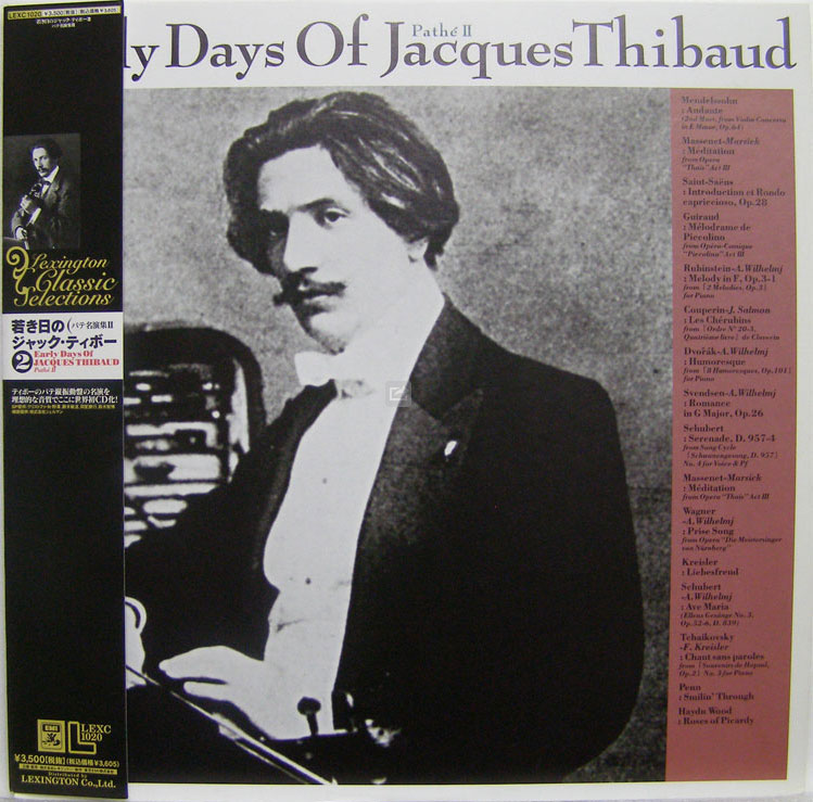Jaques Thibaud early recordings